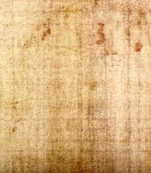 Second face image found on the backside of the cloth in 2004